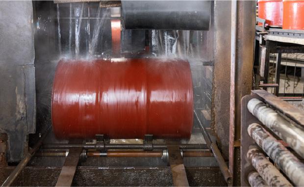 ドラム缶の洗浄