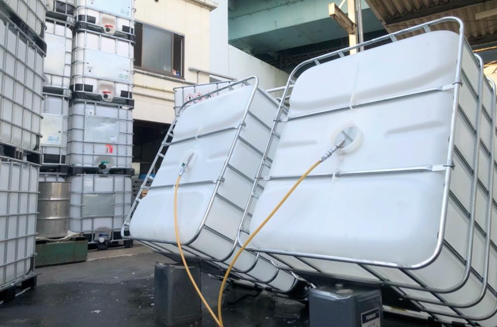 IBCコンテナ 洗浄